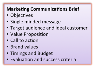 Marketing communications brief